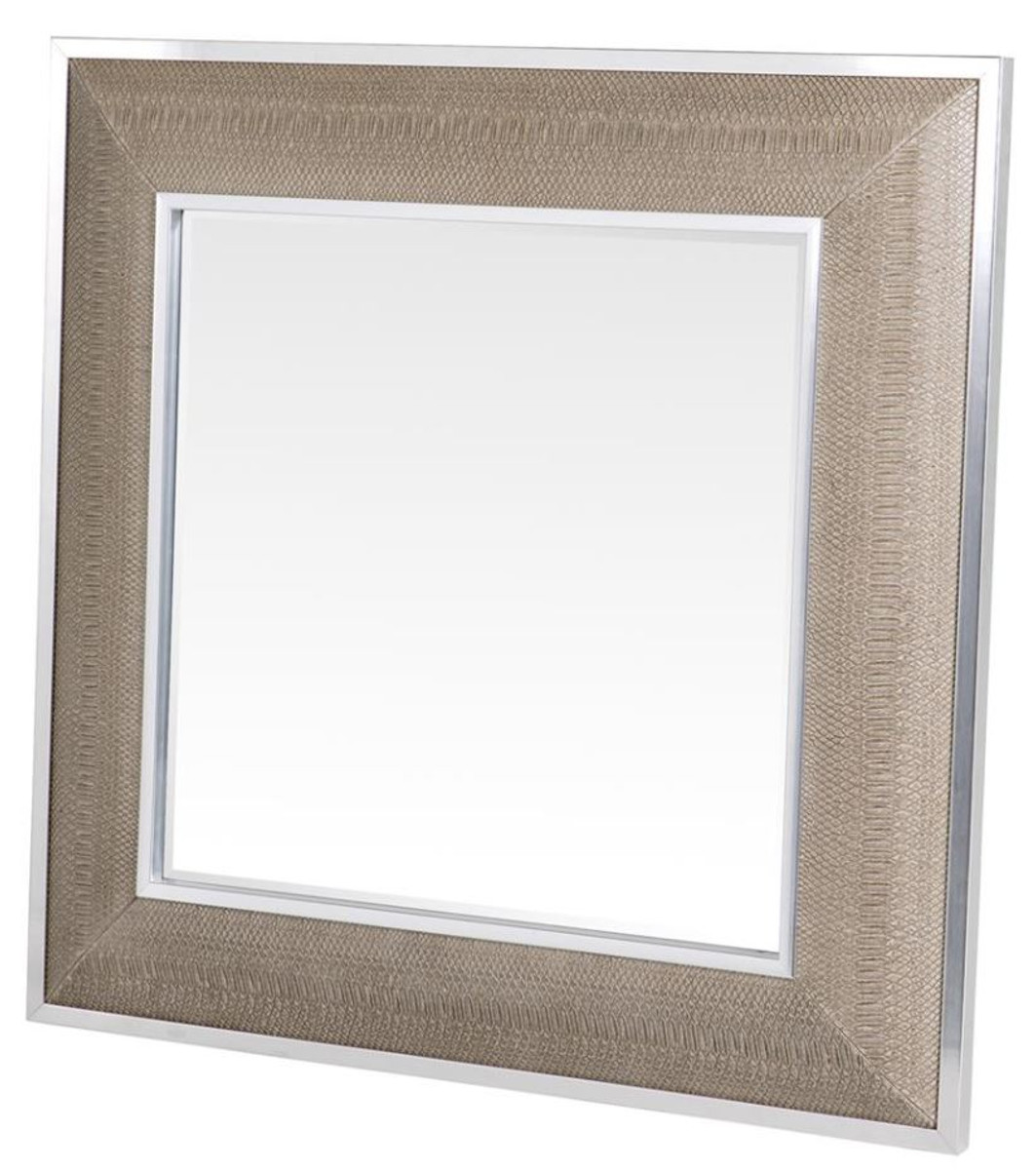 casa padrino designer spiegel mit cremefarbigen cobradruck. Black Bedroom Furniture Sets. Home Design Ideas