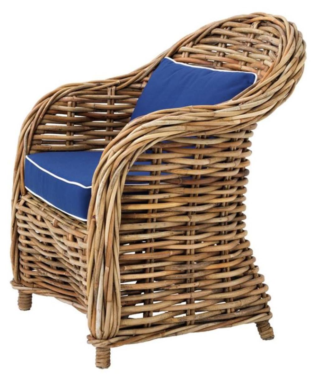 Casa padrino designer rattan sessel 70 x 70 x h 88 cm - Rattanmobel wohnzimmer ...