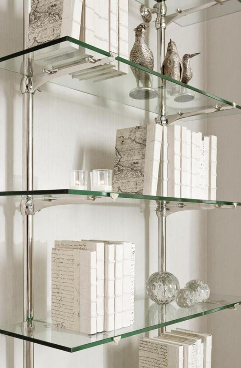 Casa Padrino Designer Wandregal Silber 100 X 41 X H 240 Cm Luxus Wohnzimmer Mobel