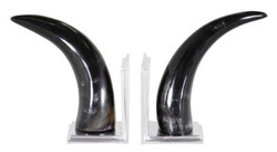 Casa Padrino designer horn bookends set of 2 - luxury collection