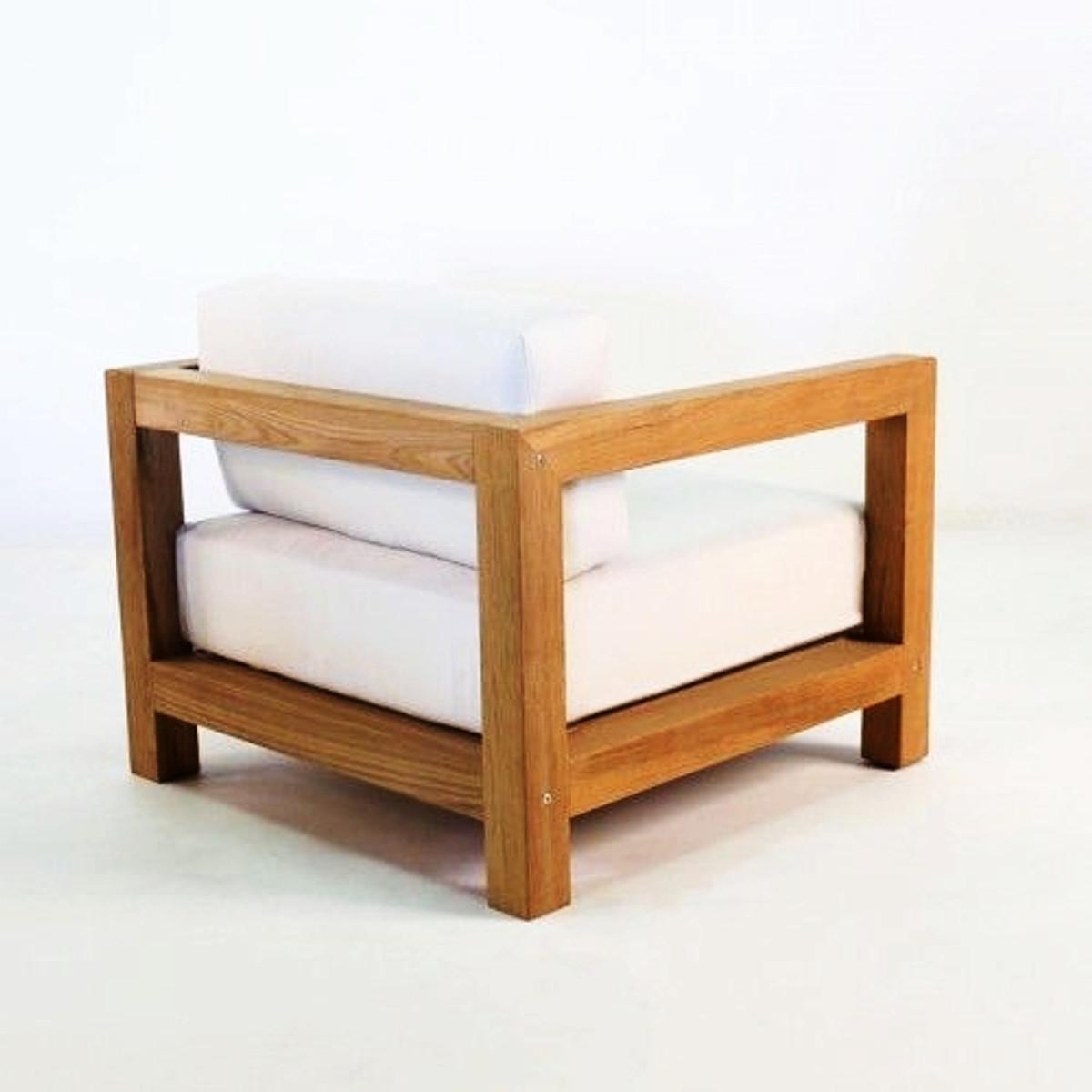 casa padrino garten sessel boston rustikal weiss creme. Black Bedroom Furniture Sets. Home Design Ideas