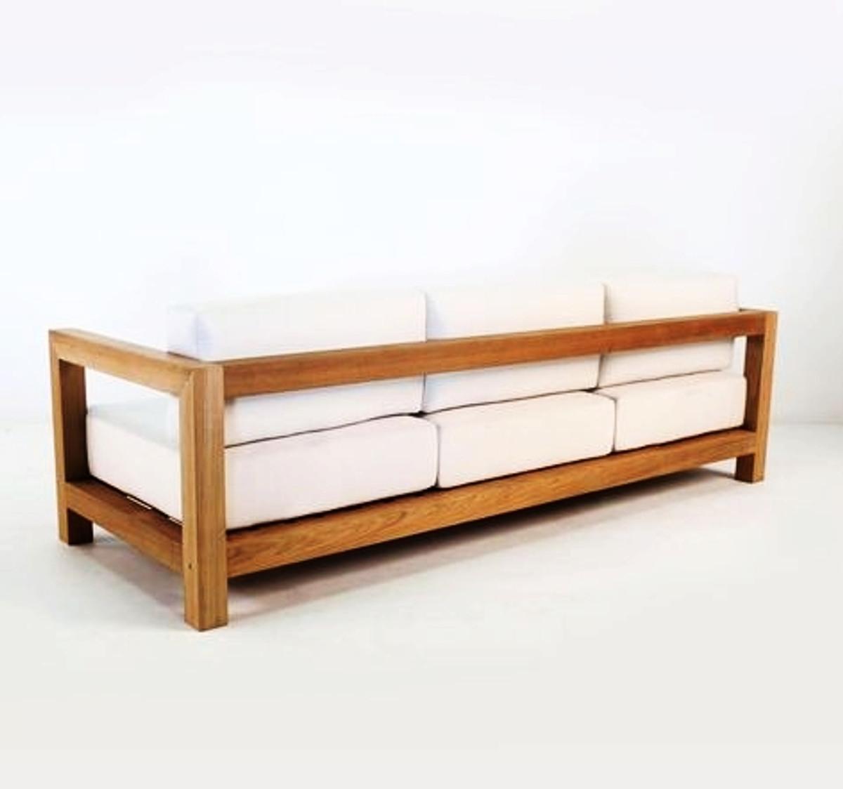 Casa padrino garden 3 seater sofa boston rustic white for Sofa rustikal
