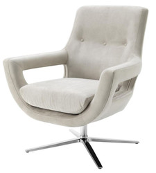 Casa Padrino luxury chair light gray - designer hotel furniture