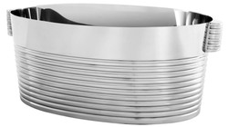 Casa Padrino designer stainless steel champagne cooler with 2 handles - hotel collection