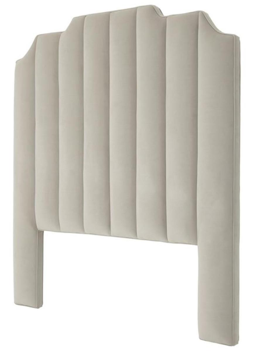 casa padrino luxus bett kopfteil hellgrau 189 x h 181 cm. Black Bedroom Furniture Sets. Home Design Ideas