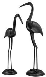 Casa Padrino luxury bronze figures Storks set of 2 - precious & sumptuous