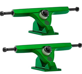 Caliber Longboard Achsen Set 184mm / 44 Grad - Satin Green - (2 Achsen) Trucks Truck Set