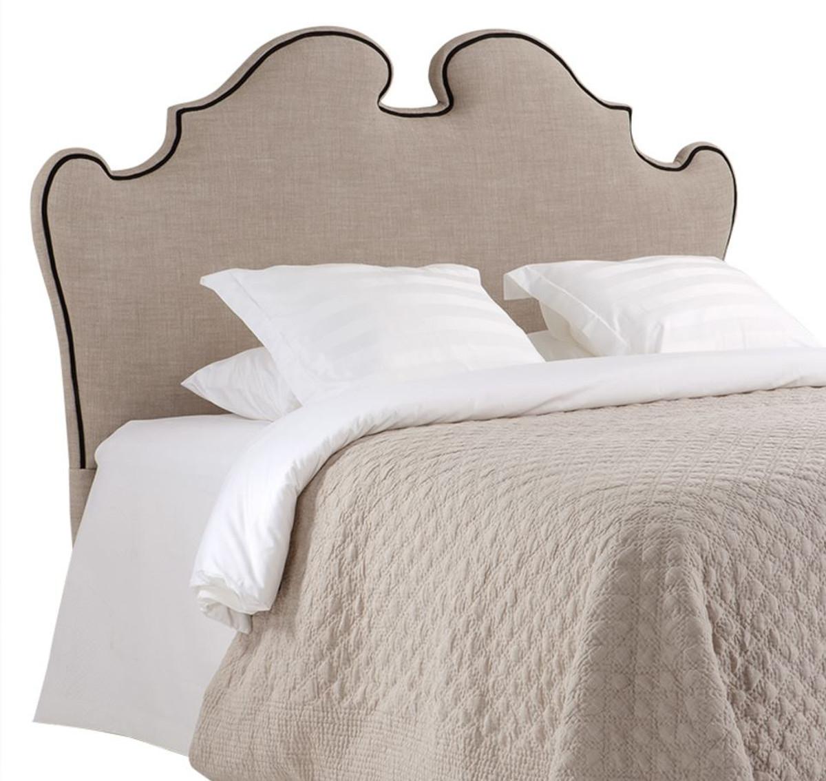 casa padrino designer bett kopfteil beige 200 x h 144 cm luxus qualit t betten. Black Bedroom Furniture Sets. Home Design Ideas