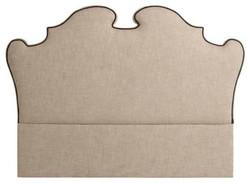 Casa Padrino designer bed headboard beige 200 x H. 144 cm - luxury quality