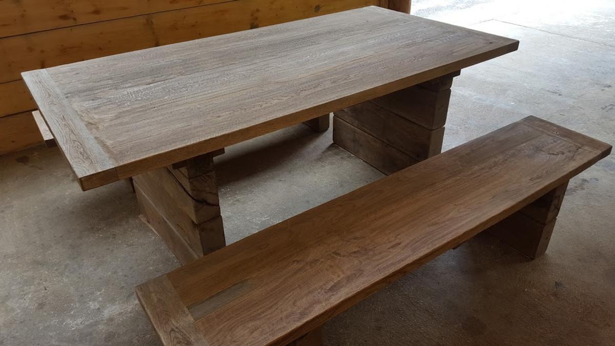 Casa Padrino Juego de muebles de jardín - Mesa rústica + 2 ... - photo#14