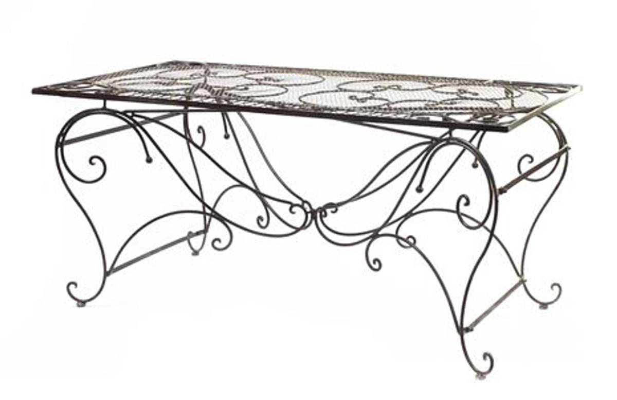 casa padrino garten esstisch antik braun durchmesser b 159 cm, h 79, Design ideen
