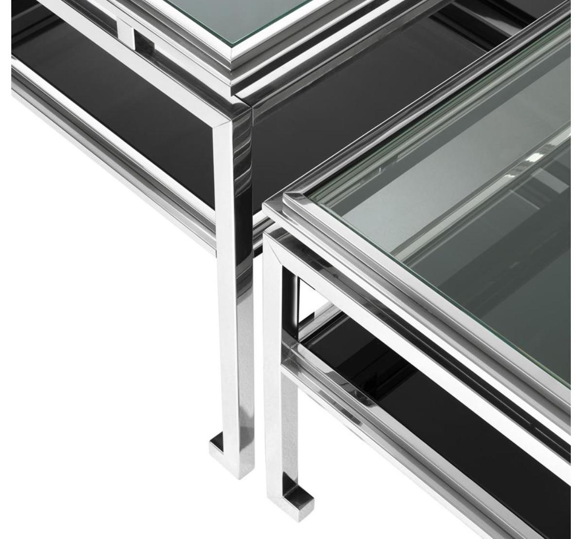 Casa padrino luxus couchtisch 4er set silber designer for Luxus couchtisch