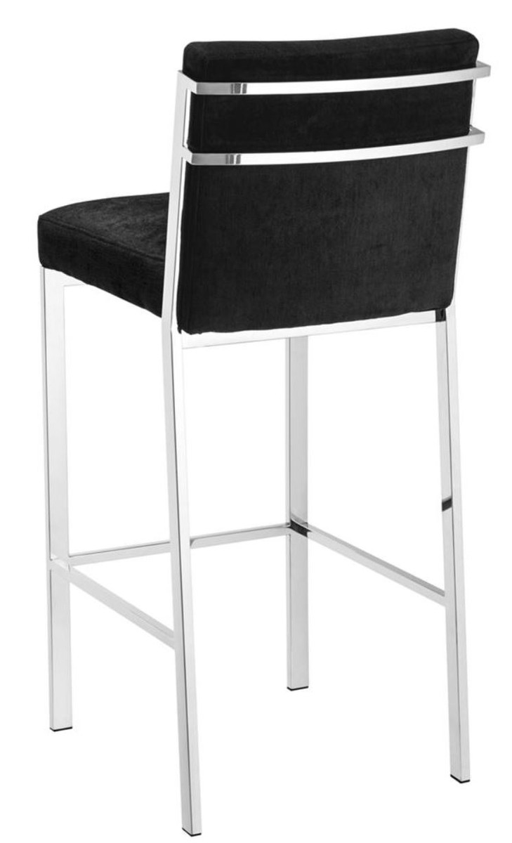 casa padrino designer hochstuhl barstuhl barhocker silber 43 x 54 x h 101 cm luxus. Black Bedroom Furniture Sets. Home Design Ideas