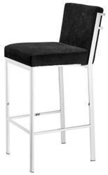 Casa Padrino designer high chair / bar chair / bar stool silver 43 x 54 x H. 101 cm - luxury quality