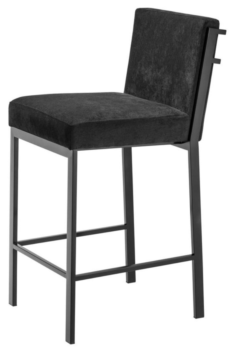 Fantastic Casa Padrino Luxury Bar Stool Black Bronze 43 X 54 X H 91 Cm Designer Stainless Steel Bar Stool With Velvet Fabric Bar Furniture Inzonedesignstudio Interior Chair Design Inzonedesignstudiocom