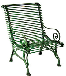 Casa Padrino Wrought iron garden chair - various colors - 63 cm x 45 cm x 98 cm - luxury garden furniture