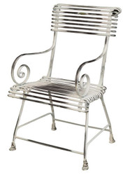 Casa Padrino Wrought iron garden chair - various colors - 44 cm x 54 cm - luxury garden furniture