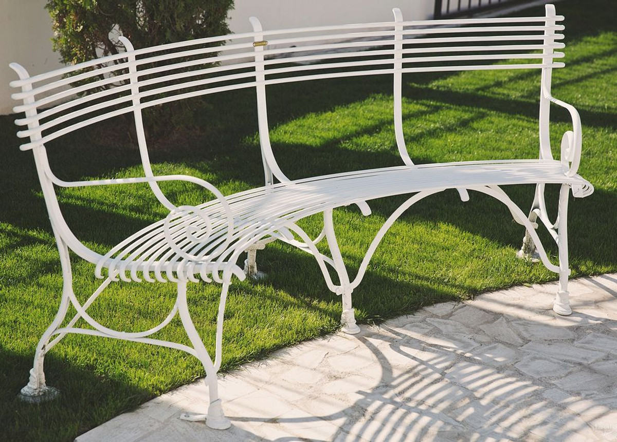Groovy Casa Padrino Wrought Iron Garden Bench 1 9 X 0 48 X H 0 9M Gmtry Best Dining Table And Chair Ideas Images Gmtryco