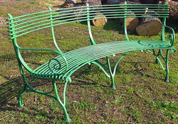 Casa Padrino Wrought Iron Garden Bench 1,9 x 0,48 x H. 0,9m - Vintage nostalgia