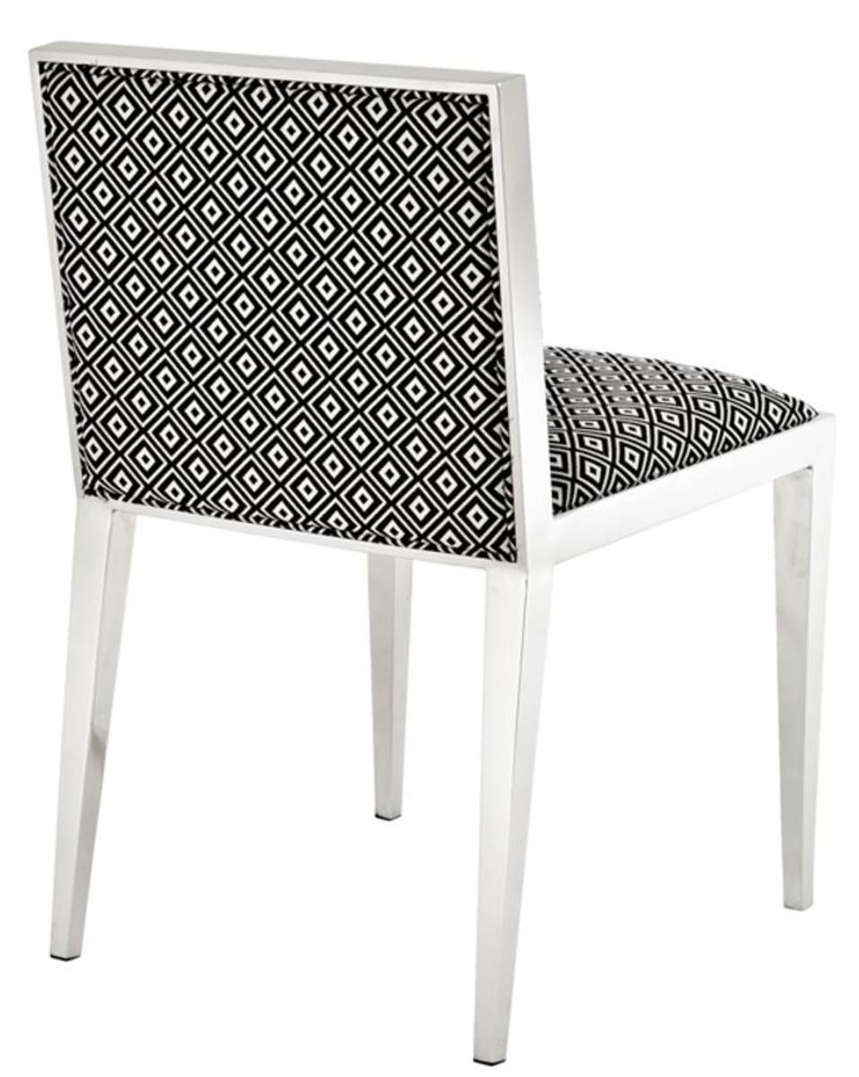 casa padrino luxus edelstahl esszimmerstuhl 47 5 x 50 x h 77 2 cm designer esszimmerm bel. Black Bedroom Furniture Sets. Home Design Ideas