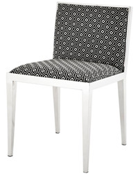 Casa Padrino luxury stainless steel dining chair 47,5 x 50 x H. 77,2 cm - designer dining room furniture