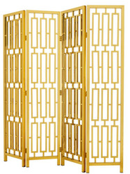 Casa Padrino designer stainless steel room divider gold 200 x H. 225 cm - limited edition