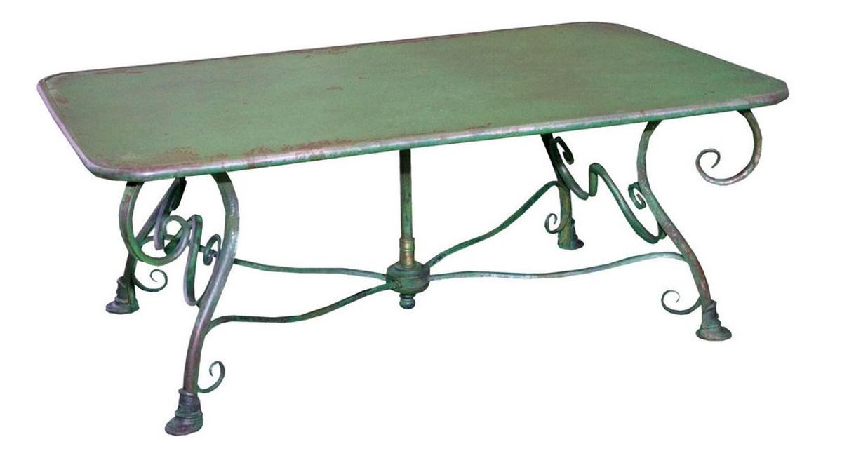 Casa Padrino Table de jardin en fer forgé - couleurs différentes - 120 cm x  70 cm x H45 cm - jardin de luxe meubles