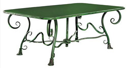 Casa Padrino Wrought iron garden table - various colors - 120 cm x 70 cm x 45 cm - luxury garden furniture