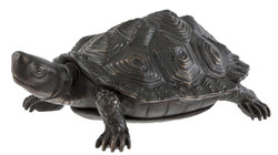 Casa Padrino luxury Bronze figure turtle 14 x 9 x H. 5 cm - luxury quality