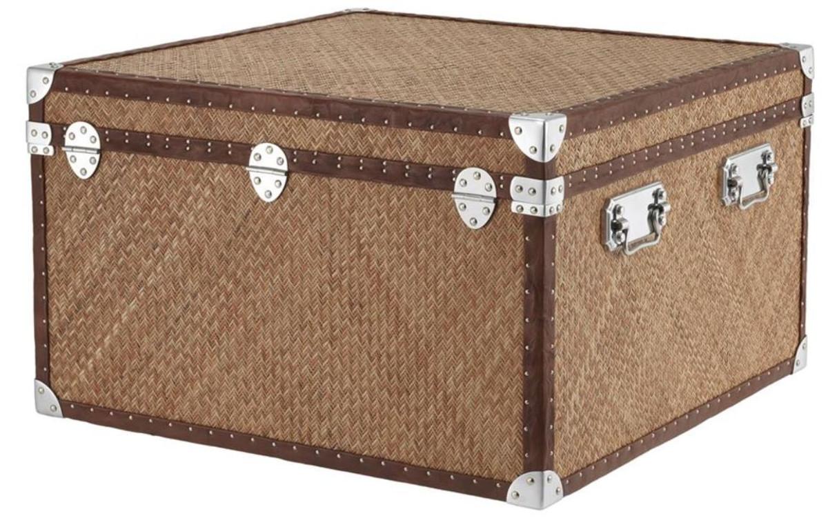 casa padrino luxus couchtisch im vintage koffer design 85 x 85 x h
