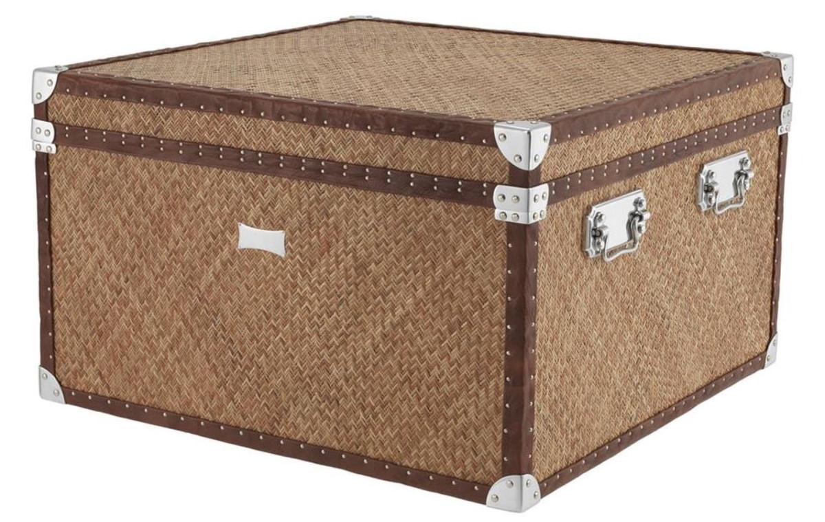 casa padrino luxus couchtisch im vintage koffer design 85 x 85 x h 51 cm designer m bel. Black Bedroom Furniture Sets. Home Design Ideas