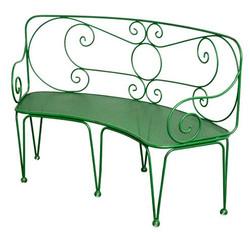 Casa Padrino Wrought Iron Garden Bench 1,4 x 0,48 x H. 0,9m - Vintage nostalgia