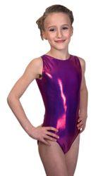 Turnanzug / Gymnastikanzug Basic, Metallic Sheen, diverse Farben – Bild 4