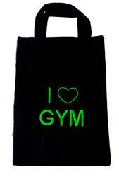 Baumwollbeutel Stickmotiv 'I love Gym' – Bild 2