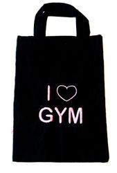 Baumwollbeutel Stickmotiv 'I love Gym' – Bild 1