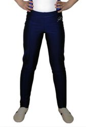 Getty-Sports Kunstturnhose, lang mit Steg, navy (marineblau) – Bild 2