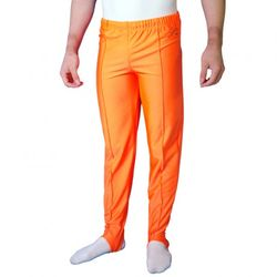 Getty-Sports Kunstturnhose, lang mit Steg, orange – Bild 1