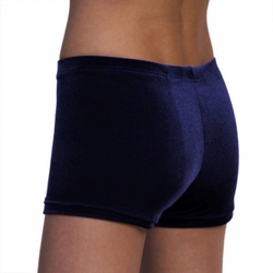 marineblaue Getty-Sports Hipsters/Panty aus glattem Samt – Bild 2