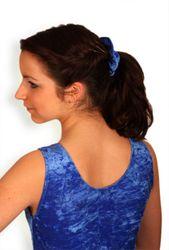 Turnanzug, Knittersamt royalblau, ohne Arm, ovaler Ausschnitt – Bild 2