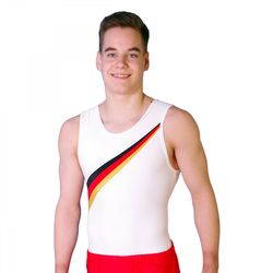 Getty-Sports Turntrikot Armin (schwarz, rot, gold) – Bild 1