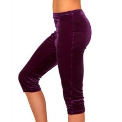 Getty-Sports Kunstturnhose / Capri  Samt, violett