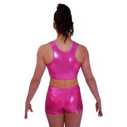 Getty-Sports Racerback Cropped Top und Panty (pink) – Bild 2