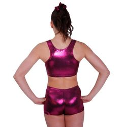 Getty-Sports Racerback Cropped Top und Panty (dark berry) – Bild 2