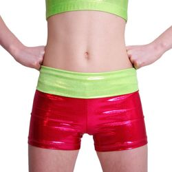 Getty-Sports Waistband Panty (red, lime) – Bild 1
