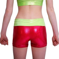 Getty-Sports Waistband Panty (red, lime) – Bild 2