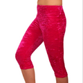Getty-Sports Kunstturnhose / Capri  Knittersamt, pink 001