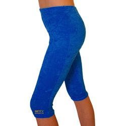 Getty-Sports Kunstturnhose / Capri  Knittersamt, royal