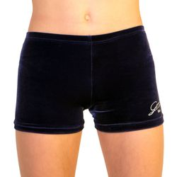 marineblaue Getty-Sports Hipsters/Panty aus glattem Samt – Bild 1