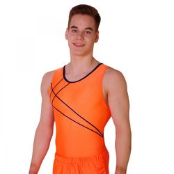 Turntrikot Johannes orange, navy – Bild 1