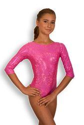 Turnanzug, Hologramm, pink, Armlänge wählbar